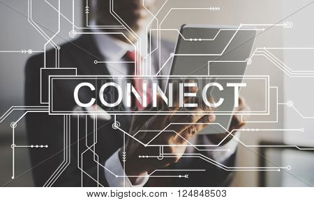 Connect Associated Social Networking Togetherness Concept