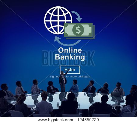 Online Banking Financial Transaction Technology Concept
