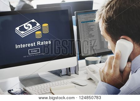 Interest Rates Economy Financial Percentage Concept