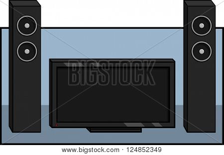 television with speakers