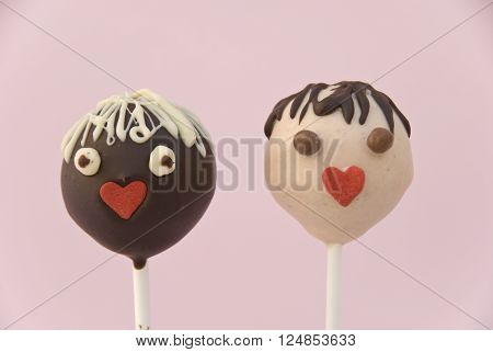 Cake pops. Cake pops studio photographs .