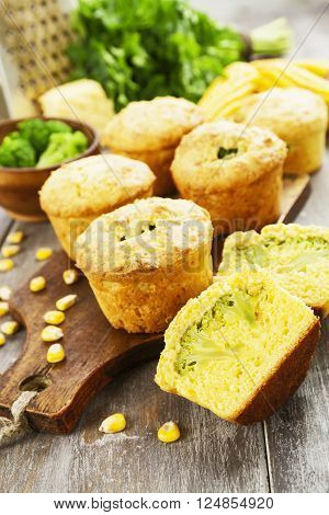 Corn Muffins With Broccoli