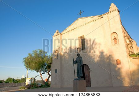 April 3 2016: Photo of Mission San Gabriel Arcangel which is located in San Gabriel Californa USA.