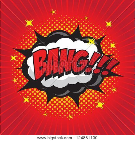 BANG! wording sound effect set design for comic background, comic strip