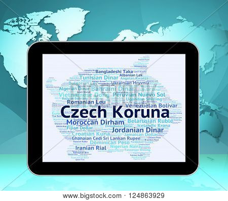 Czech Koruna Represents Exchange Rate And Coin