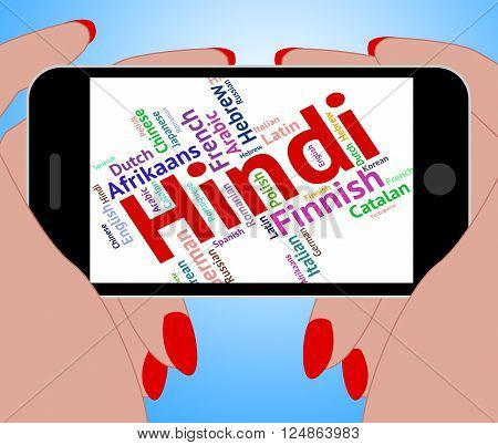 Hindi Language Means International Words And Vocabulary