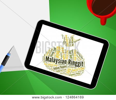 Malaysian Ringgit Represents Currency Exchange And Coinage