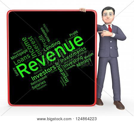 Revenue Word Represents Words Wordcloud And Revenues