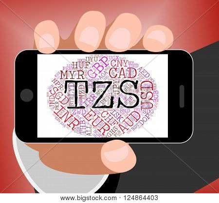 Tzs Currency Represents Tanzania Shilling And Banknote