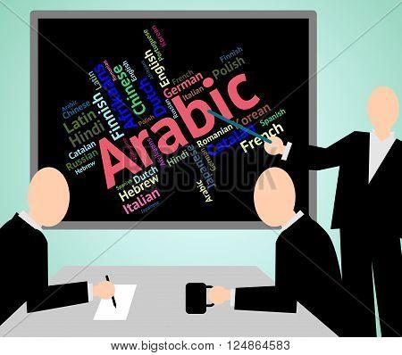 Arabic Language Means Translate Lingo And Word
