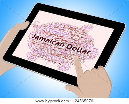 Jamaican Dollar Represents Currency Exchange And Dollars