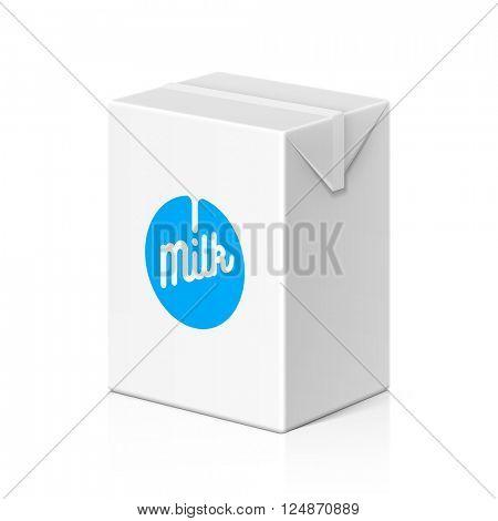 Milk or juice package mock up, 200ml. Vector illustration.