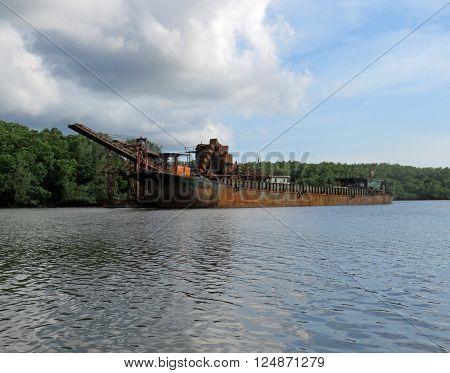 DESARU JOHOR MALAYSIA - NOVEMBER 19: Sights From The Bujang Sungai Lebam River Cruise November 19, 2014  in Desaru Johor, Malaysia