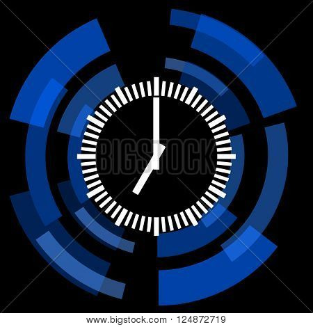 time black background simple web icon