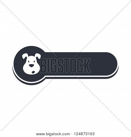 puppy dog banner template vector art illustration