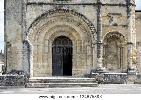The Collegiate Church and Cloister in the centre of Saint-Emilion, France