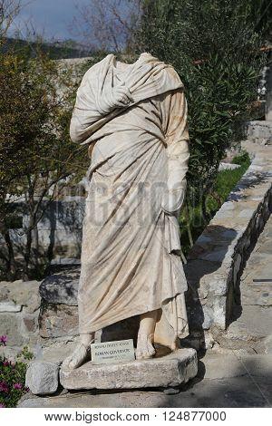 Roman Governor Sculpture in Bodrum Castle Mugla Turkey