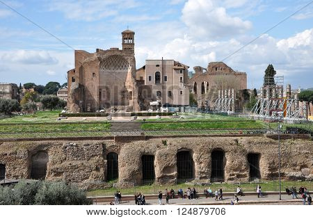 Remains Of The Domus Aurea, Built By Emperor Nero In Rome, Italy