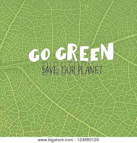Go Green Poster.