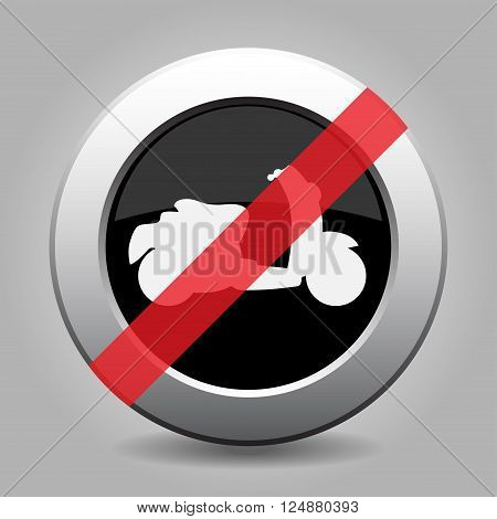 gray chrome button with no scooter - banned icon
