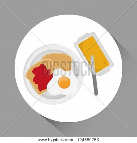 Breakfast concept with icon design, vector illustration 10 eps graphic.