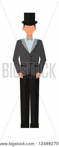 Fashion elegant gentleman and style clothing gentleman. Gentleman fashion elegant male style classic clothing. Elegant man of the nineteenth century vintage gentleman engraved vector illustration.