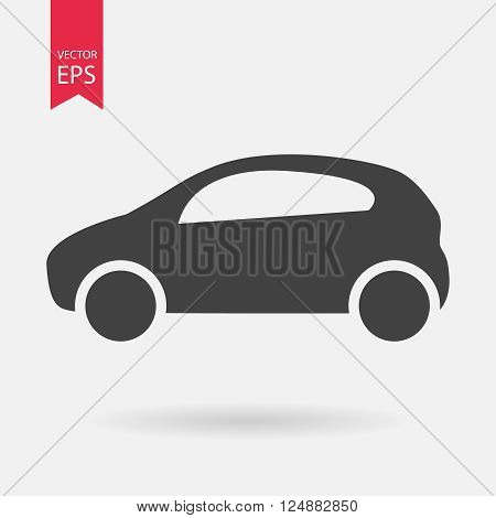 Car icon, car icon vector, car logo design isolated on white backgroun. Vector illustration