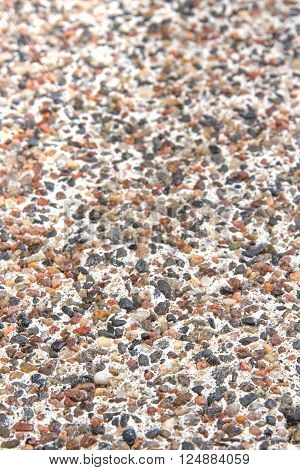 Varicoloured natural marble chip plaster close-up background ** Note: Shallow depth of field