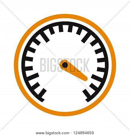 Design power speedometer cars speed and cars element technology speed. Meter control cars speed measurement panel indicator arrow. Vector performance measurement cars speed icon auto symbol.