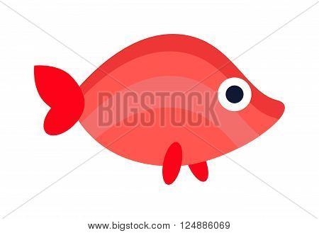 Underwater aquarium fish and marine aquarium fish. Tropical wildlife aquarium fish, colorful ocean green exotic fish. Aquatic fish wildlife aquarium underwater nature animal vector.