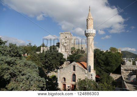 Bodrum Castle in Bodrum Town Aegean Coast of Turkey