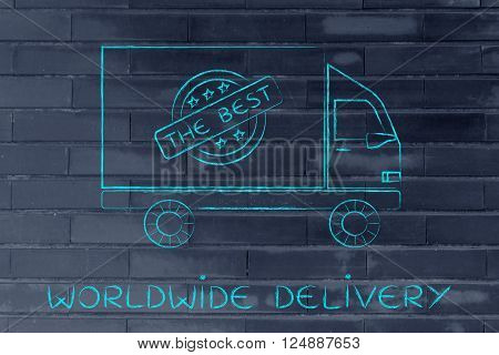 Shipping Company Vehicle, Worldwide Delivery