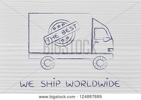 Shipping Company Vehicle, We Ship Worldwide