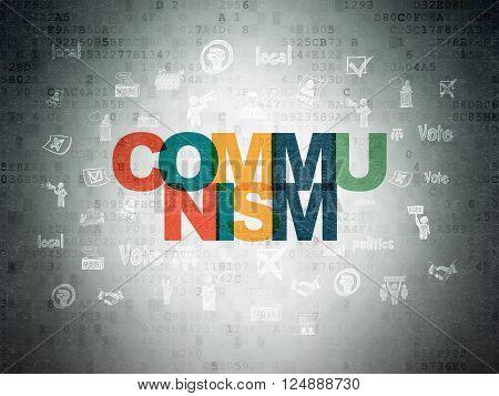 Political concept: Communism on Digital Paper background