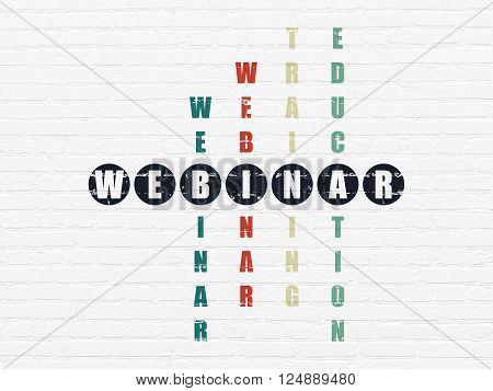 Education concept: Webinar in Crossword Puzzle