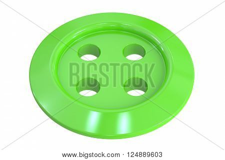 sewing button clothing 3D rendering isolated on white background