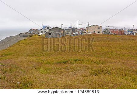 Coast and Meadow View of Barrow Alaska