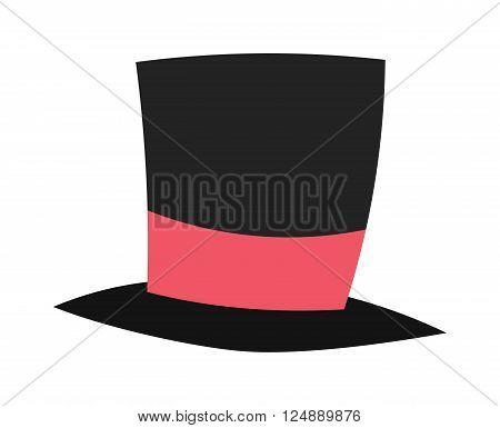 Vector magic conjurer cylinder hat illusionist trick flat cartoon.