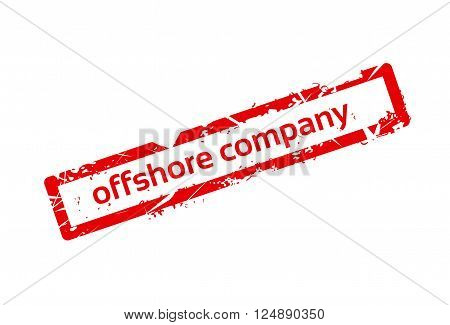 Offshore Company Red Stamp Grunge Sign Vector Illustration