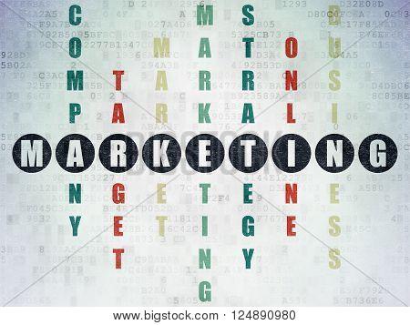 Marketing concept: Marketing in Crossword Puzzle