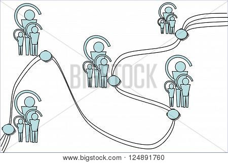 In a picture is presented the uniform organization a control system. This drawing can be used in different spheres.