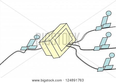 Communication   In a picture is presented the uniform organization a control system. This drawing can be used in different spheres.