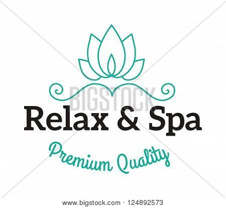 Spa logo lotus wellness salon and business spa logo. Business spa logo massage healthy design template concept. SPA logos vector typography wellness label natural candles design template.