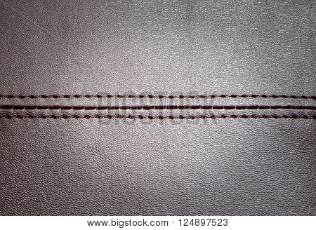 a leather texture with a horizontal seam
