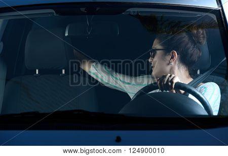 Girl Drive Backwards