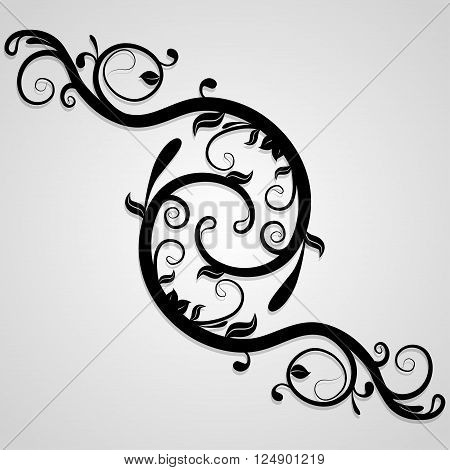 Delicate background of whorls. Decorative elements can be used independently. Vector illustration.