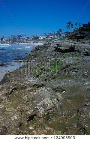 Rocky La Jolla Beach in San Diego