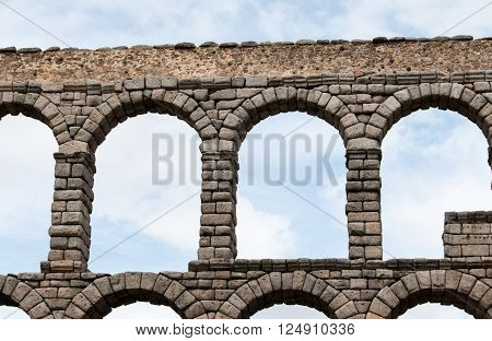 ancient Aqueduct in Segovia Spain that carried water to cities