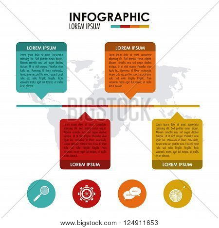 Infographic  concept with icon design, vector illustration 10 eps graphic.