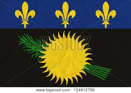 Vector image of the Guadeloupe paper flag